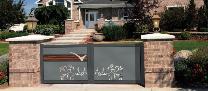 portail aluminium coulissant battant. Black Bedroom Furniture Sets. Home Design Ideas